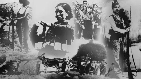 Imágenes de «milicianas republicanas» de la exposición «El voto femenino en España». (Fuente: Instituto de la Mujer)
