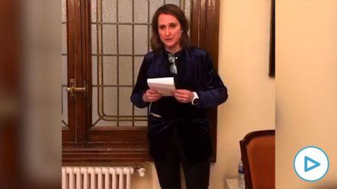 Carmen Tejera en su vídeo de despedida.