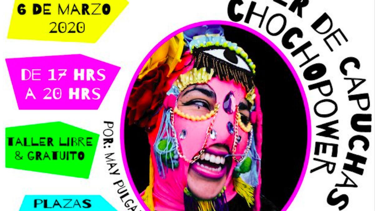 Cartel del Injuve sobre el taller para hacer «capuchas choco-power».