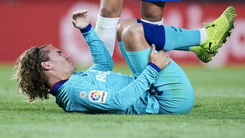 Griezmann, en un partido con el Barcelona. (Getty)