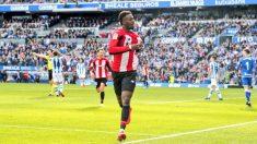 Iñaki Williams celebra un gol con el Athletic. (@Williaaams45)