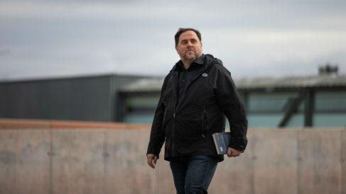 Oriol Junqueras cuando abandonó la cárcel de Lledoners. Foto: EP