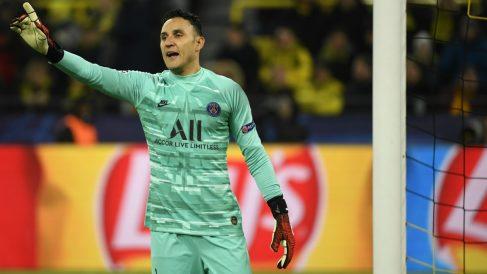 Keylor Navas durante el partido ante el Borussia Dortmund. (AFP)