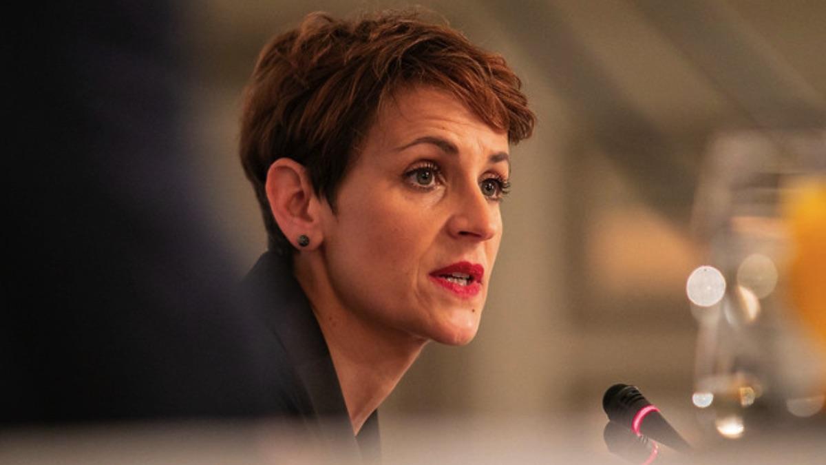 María Chivite, presidenta de Navarra.(Foto: PSOE)