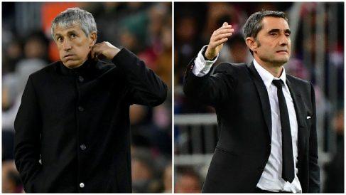 Quique Setién empeora los números de Ernesto Valverde.
