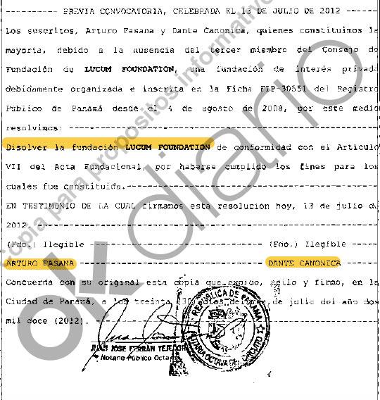 Juan Carlos I pagó los 65 millones a Corinna desde una 'offshore' a nombre de sus testaferros Fasana y Canonica