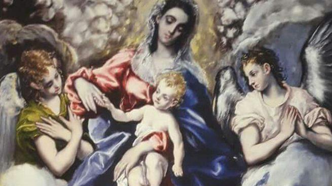 el greco virgen con nino dia de la mujer