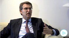 Alberto Núñez Feijóo en la entrevista con OKDIARIO.