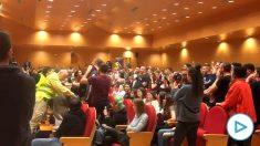 Escrache a Pablo Iglesias en la Complutense