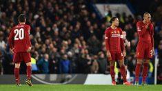 Liverpool eliminado por el Chelsea de la FA Cup. (AFP)