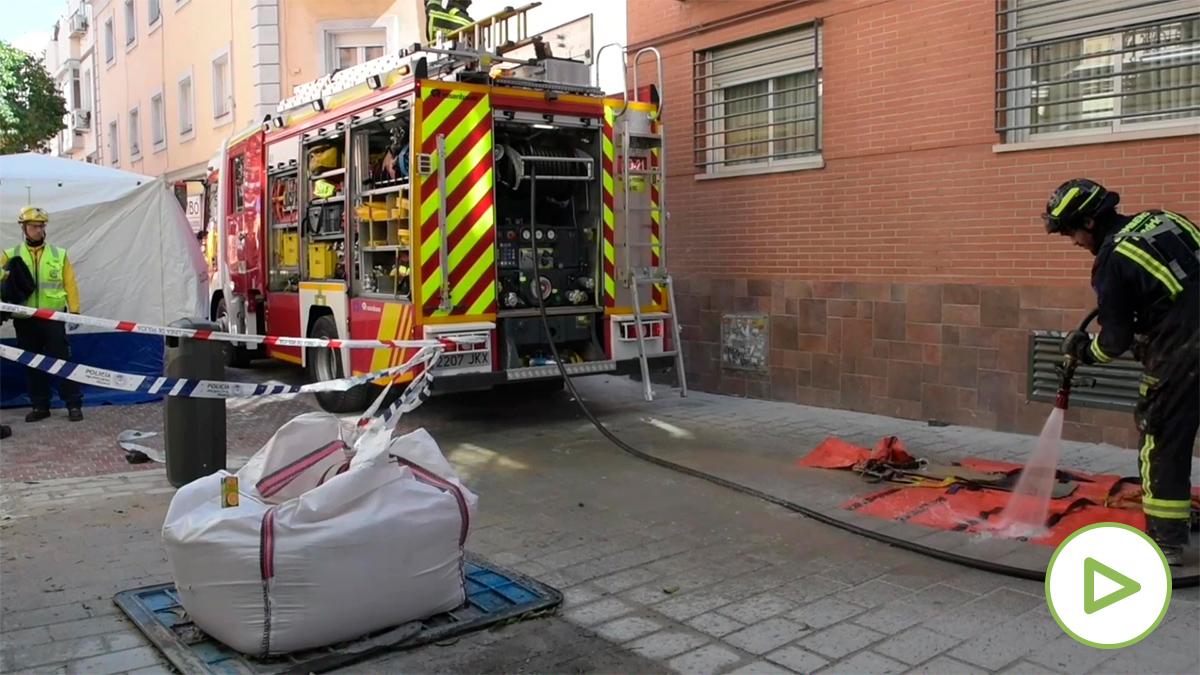 El accidente tuvo lugar en la calle Tamayo  (Madrid).
