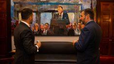 Abascal en el capitolio con el senador de Texas