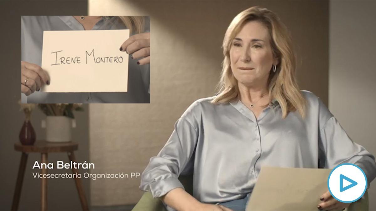 Ana Beltran habla sobre Irene Montero