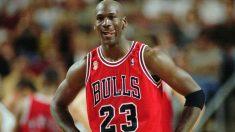 Michael Jordan, en una imagen con los Chicago Bulls.
