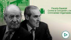 Don Juan Carlos I y el fiscal Alejandro Luzón.