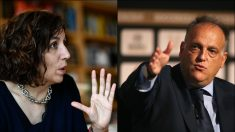 Irene Lozano y Javier Tebas.