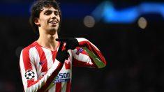 Joao Félix celebra un gol con el Atlético de Madrid. (AFP)