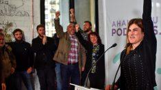 La candidata de Podemos Euskadi a lehendakari, Miren Gorrotxategi. (Foto: EFE)