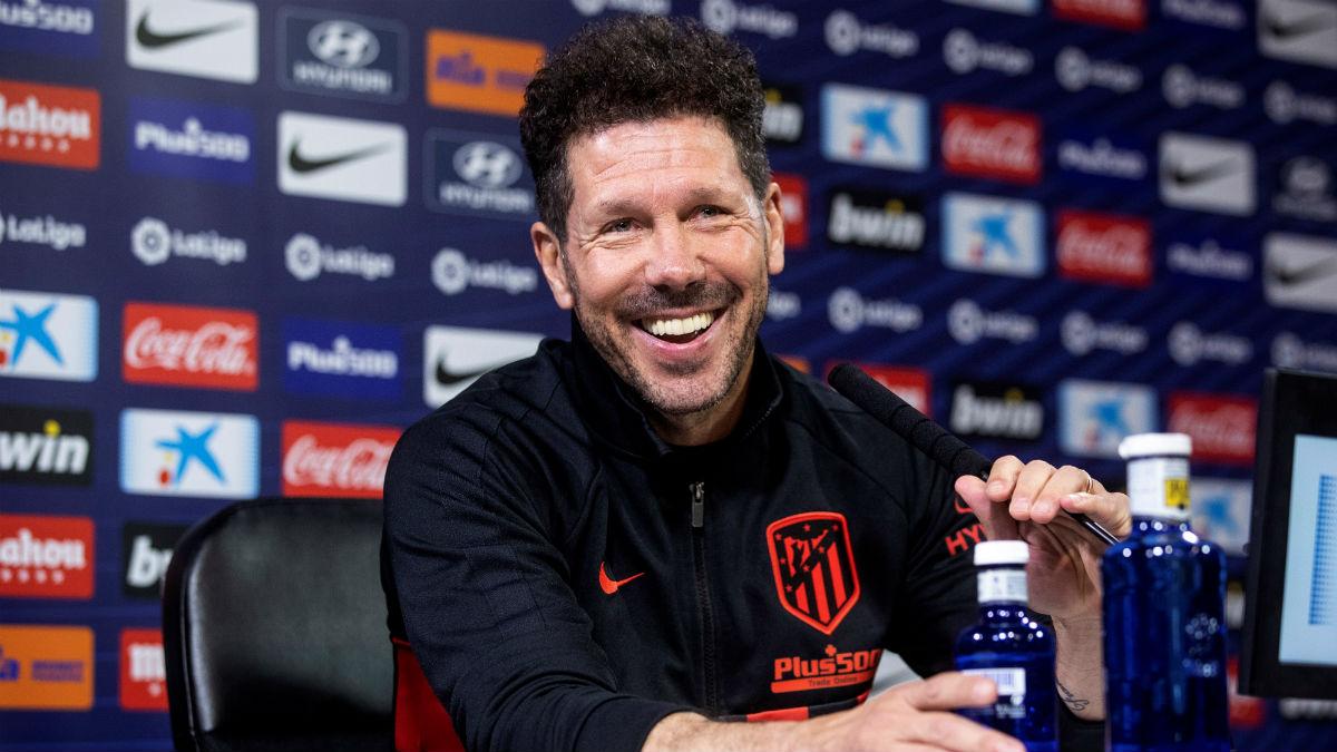 Simeone, en rueda de prensa. (EFE)