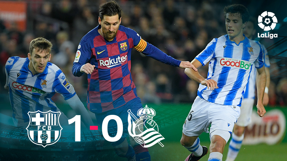 El Barcelona se impuso a la Real Sociedad por 1-0.