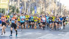 Una imagen del maratón de Barcelona.
