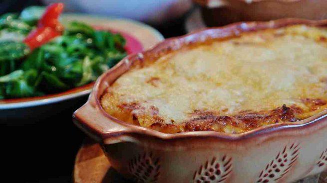 Lasaña de verduras con crema de queso