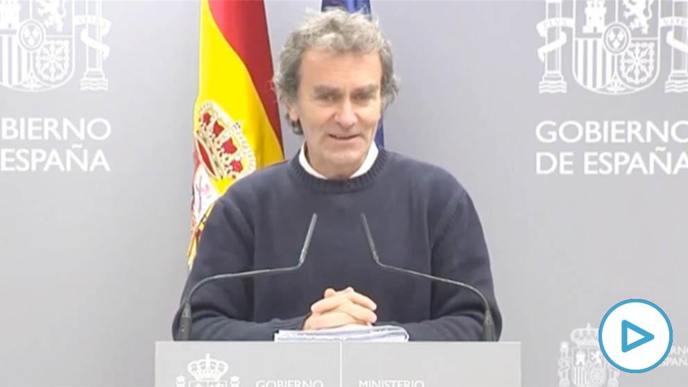 Fernando Simón en rueda de prensa el pasado 7 de marzo.