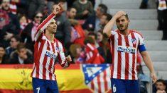 Joao Félix celebra su gol frente al Sevilla. (AFP)