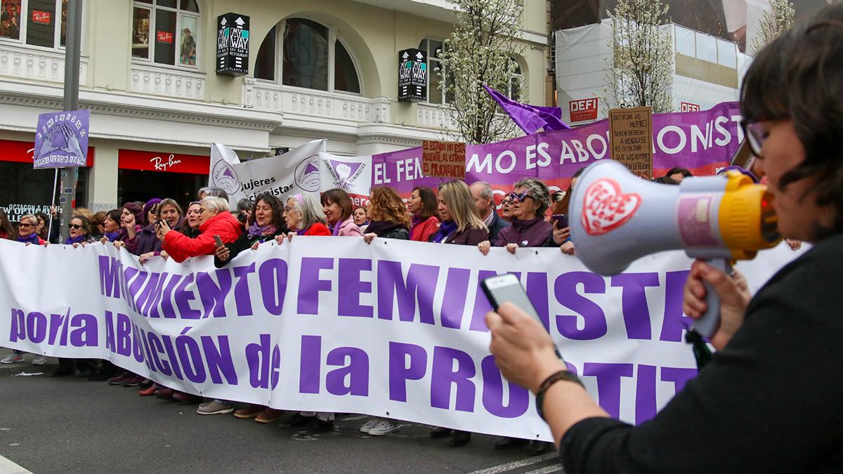 Manifestación del 8M en Madrid en una imagen de archivo. (Foto: Enrique Falcón)