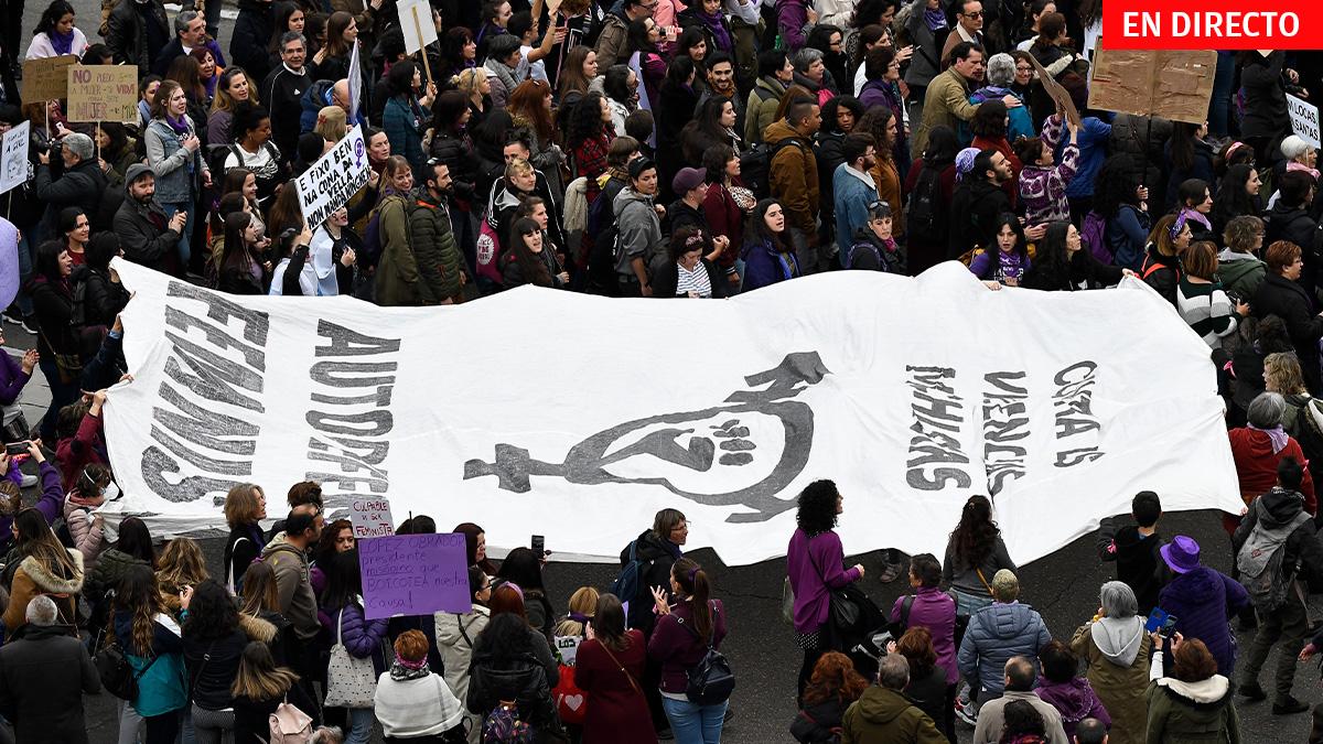 Manifestación 8 de marzo en 2020..
