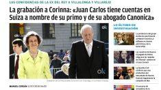 La grabación de Villarejo a Corinna desvelada por OKDIARIO en julio de 2018 provocó la investigación de la Fiscalía suiza.