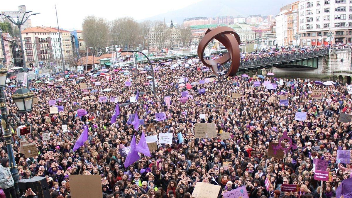 Manifestación Día de la Mujer 2020 en Bilbao