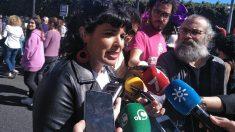 Teresa Rodríguez cambió el número de cuenta de Adelante Andalucía estando de baja por maternidad.