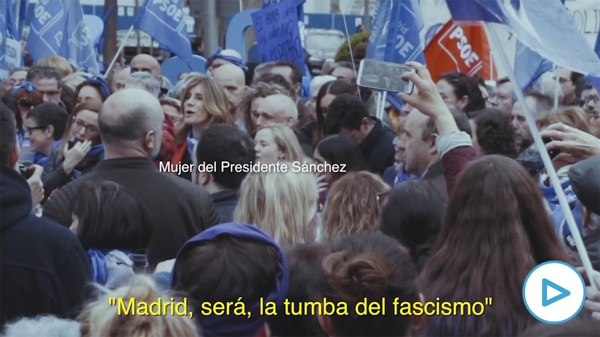 Begoña Gómez en la manifestación del 8M.
