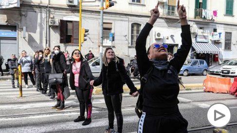 Familiares de presos de la cárcel de Módena protestan por las restricciones impuestas por las autoridades