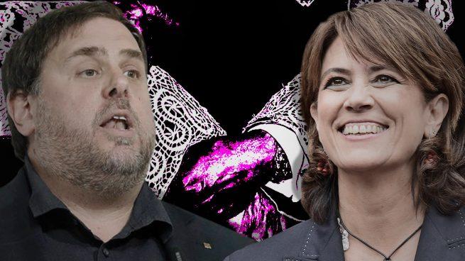Dolores Delgado y Oriol Junqueras