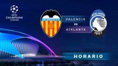Champions League: Valencia – Atalanta | Horario del partido de fútbol de Champions League.