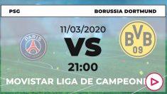 Champions League: PSG – Borussia Dortmund | Horario del partido de fútbol de Champions League.