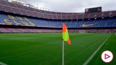 El Camp Nou vacío minutos antes de que se dispute el Barcelona-Las Palmas (AFP)