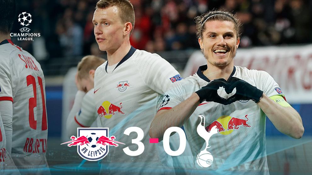 El Leipzig arrasó al Tottenham.