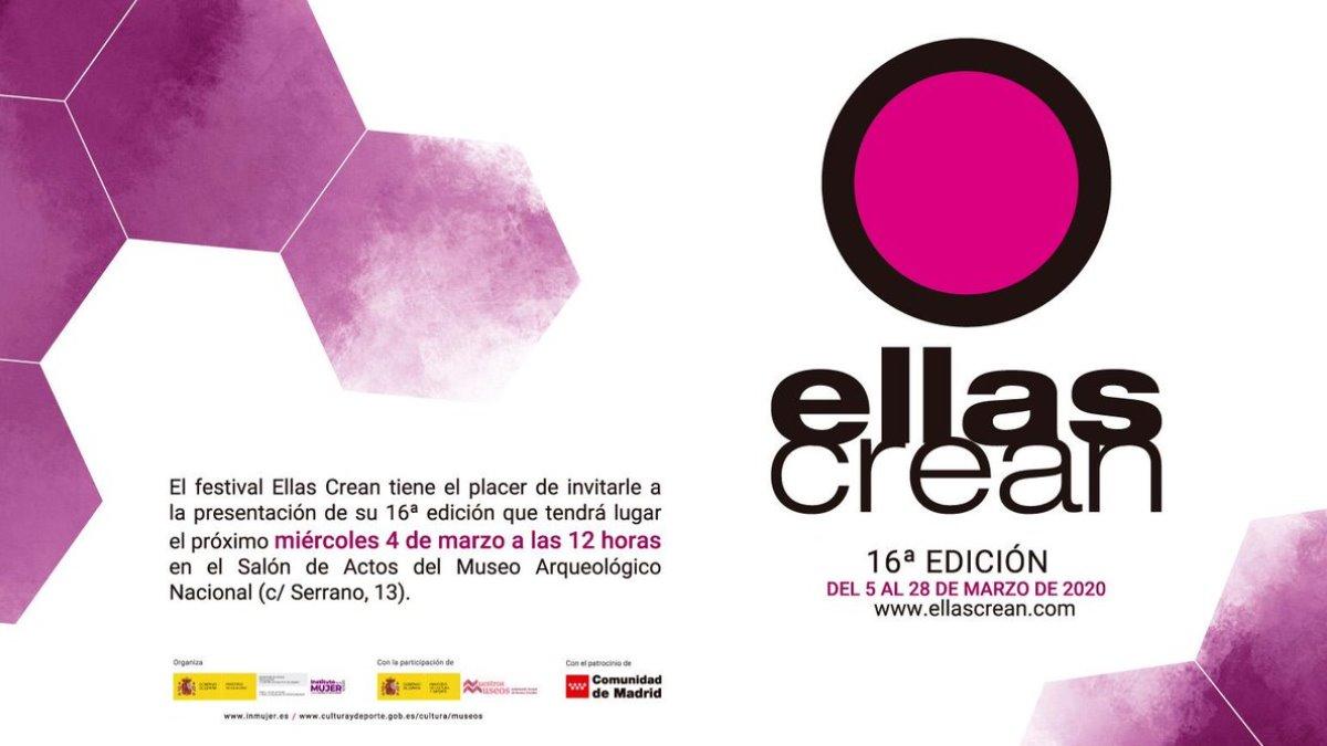 Madrid acoge el festival Ellas Crean del 5 al 28 de marzo