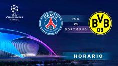 Champions League: PSG – Borussia Dortmund   Horario del partido de fútbol de Champions League.