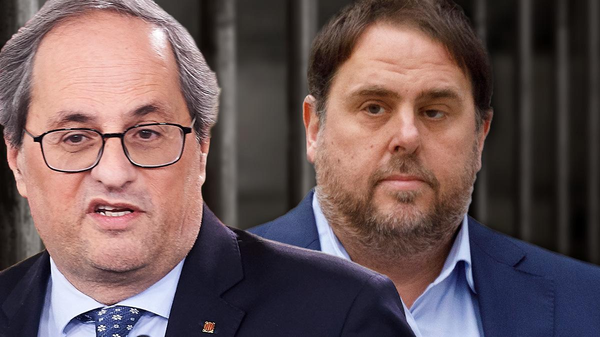 Quim Torra y Oriol Junqueras.