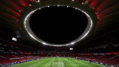 Una imagen del Wanda Metropolitano desierto. (Getty)