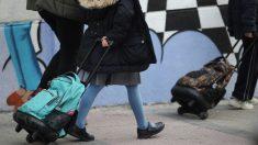Alumnos de la Comunidad de Madrid este martes en el último día de colegio en la crisis del coronavirus. (Foto: Madrid)