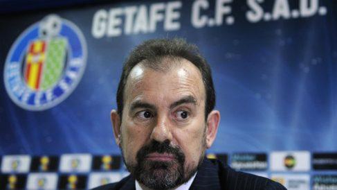 Ángel Torres, presidente del Getafe. (AFP)