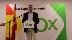 Carlos Zambrano en un acto de Vox