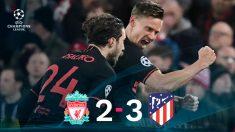 Un Atlético épico se mete en cuartos de Champions.