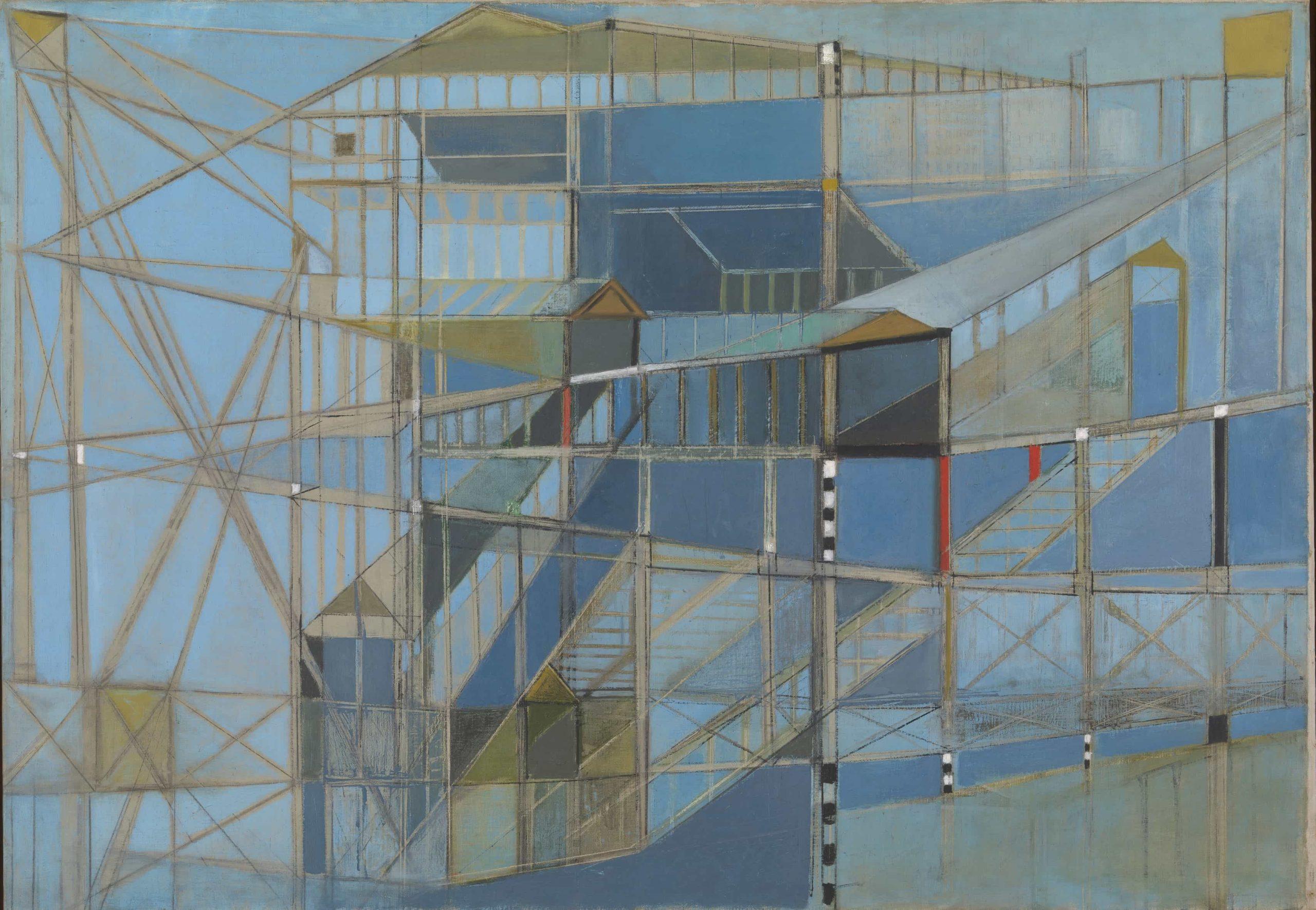 Hedda Sterne, NY, NY No. X , 1948. Óleo sobre lienzo. 83,5 x 118,5 cm. Tate, Londres. Donación de Clara Diament Sujo, 2012 (Inv.: T13861) © Hedda Sterne, VEGAP, Madrid, 2019