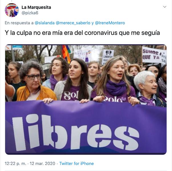Los mejores memes del positivo de Irene Montero por el coronavirus